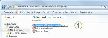 Haga clic con el botón derecho en el archivo y después haga clic en Cambiar nombre.