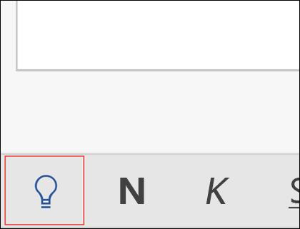 Haga clic en la bombilla para activar la característica Información.
