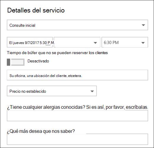 Captura de pantalla: que muestra el elemento de calendario abierto.