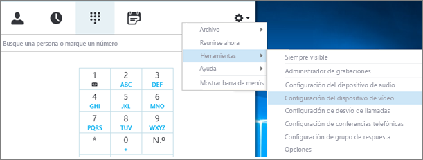 Configuración de dispositivo de vídeo
