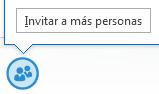 Captura de pantalla del icono invitación a más personas desde una ventana de MI