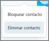 Eliminar contacto