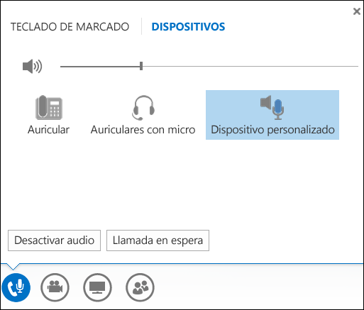 Cambiar el dispositivo de audio en Lync