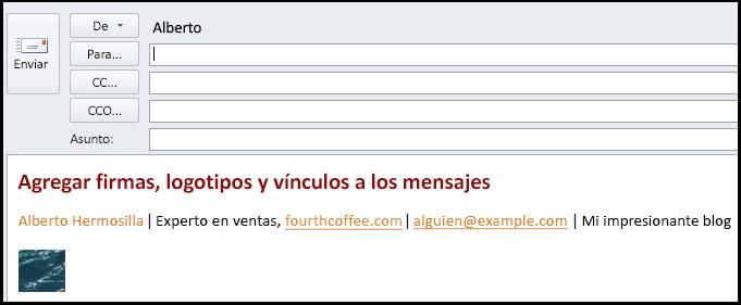 mensaje de correo electrónico con firma electrónica