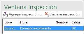 Eliminar inspección