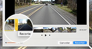 Fotogramas de vídeo y uno recortándose