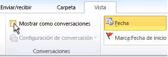 Casilla Mostrar como conversaciones en la cinta