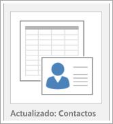 Icono de opciones de la plantilla de base de datos