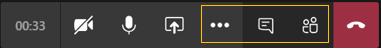 Controles de reunión: iconos de Administrar la reunión resaltados