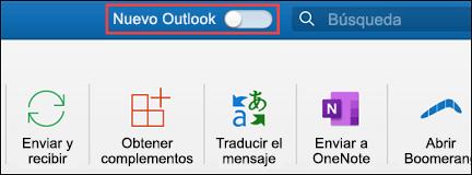 Nuevo Outlook para Mac
