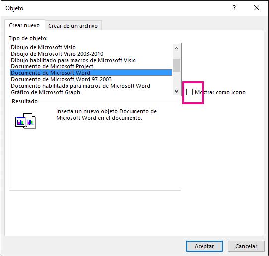 Insertar un objeto en la hoja de clculo de Excel  Excel
