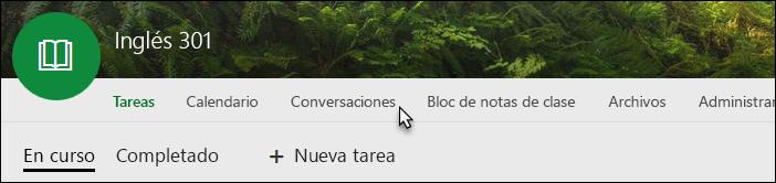 Pestaña Conversaciones