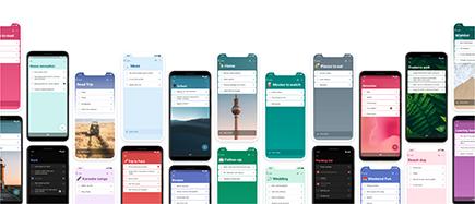 Para hacer en varios dispositivos móviles diferentes, cada uno con una lista y un fondo diferentes