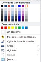 Opciones de formato del contorno de la forma de WordArt en Publisher 2010