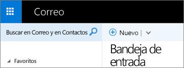 Aspecto de la cinta de Outlook Web App