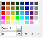 Captura de pantalla de la ventana Cambiar fuente