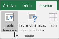 Vaya a Insertar > tabla dinámica para insertar una tabla dinámica en blanco