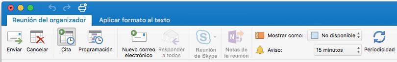 Cinta de reunión en reunión de Skype deshabilitada