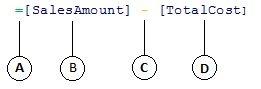 Fórmula de una columna calculada