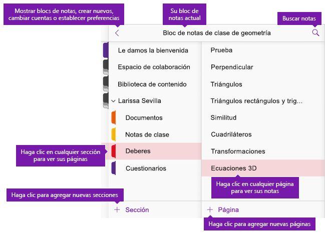 La nueva interfaz de usuario de OneNote