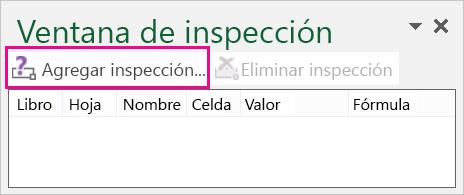 Añadir botón Inspección en la ventana Inspección