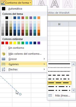 Cambiar el color, el estilo y el grosor de una línea - Soporte de Office