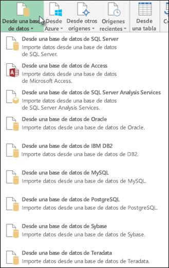 Obtener datos de cuadro de diálogo de base de datos