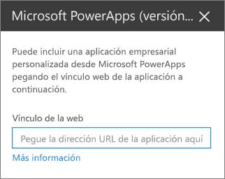 Panel de propiedades de Power apps