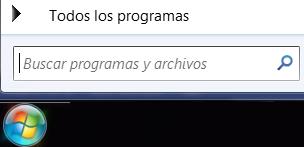 Captura de pantalla de búsqueda de programas