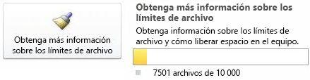 Contador de documentos de SharePoint Workspace entre 7.500 y 9.999 documentos