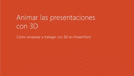 Captura de pantalla de una portada de plantilla de PowerPoint en 3D