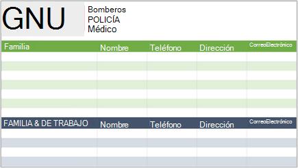 Imagen conceptual de una lista de contactos