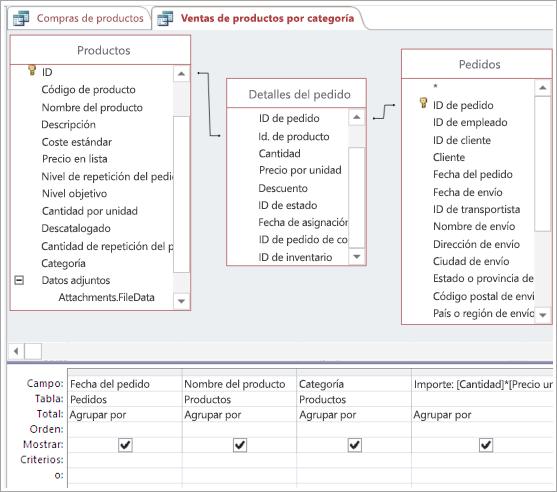 Crear las conexiones necesarias con una tabla intermediaria