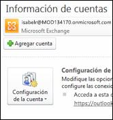 Agregar una nueva cuenta de correo electrónico a Outlook 2010