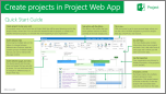 Crear proyectos en Project Online, Guía de Inicio rápido