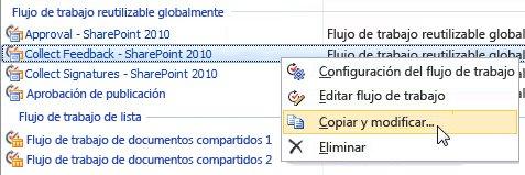 Copiar y modificar un flujo de trabajo