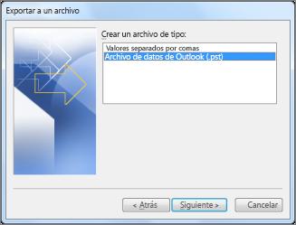 Exportar a archivos de datos
