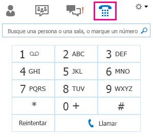 Captura de pantalla del teclado de marcado para llamar a un contacto