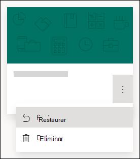 Restaurar un formulario o eliminar las opciones de un formulario en Microsoft Forms