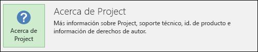 Información sobre Project