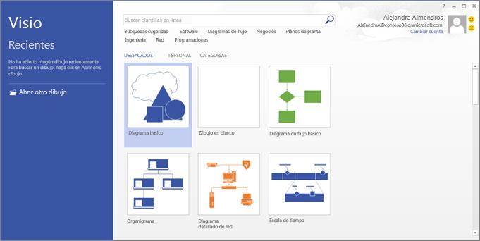 Usar Visio para crear diagramas de flujo, planos de planta, escalas de tiempo y otros tipos de dibujos