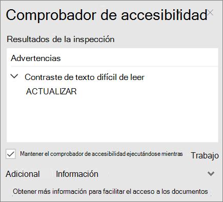 Comprobador de accesibilidad en Outlook
