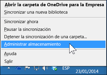 Administre el almacenamiento de OneDrive para la Empresa