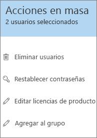 Edite asignaciones de licencia en masa.