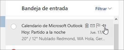 Captura de pantalla de la opción anclar