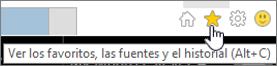 Botón de fuente de Internet Explorer