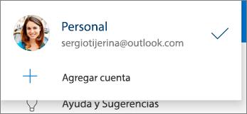 Agregar cuenta en la aplicación de OneDrive para Android
