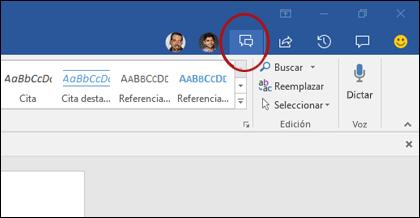Haga clic en el botón chat en la Galería de co-autoría para abrir la ventana de chat