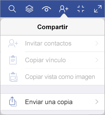 Enviar una copia de un archivo en Visio Viewer para iPad