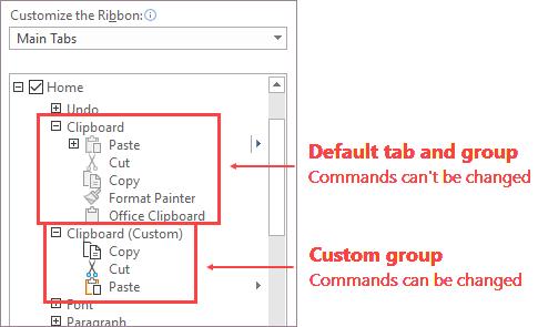 Grupo de comandos personalizado
